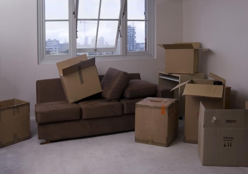 lägenhet under flytt